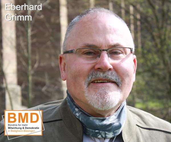 Eberhard Ebo Grimm ist BMD Kandidat für die Gemeinderatswahl Bietigheim-Bissingen 2019