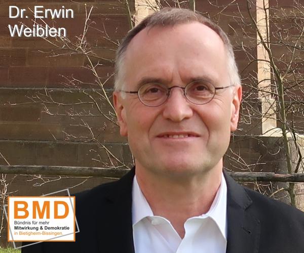 Dr. Erwin Weiblen, BMD Kandidatin zur Gemeinderatswahl in Bietigheim-Bissingen 2019