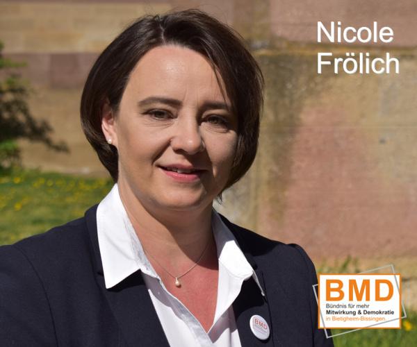 Nicole Fröhlich, BMD Kandidatin zur Gemeinderatswahl in Bietigheim-Bissingen 2019